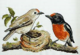 Red Capped Robins By Country Threads