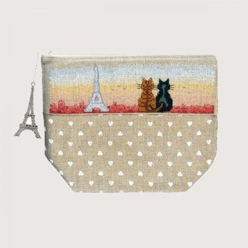 Parisian Cats Large Purse by Le Bonheur des Dames
