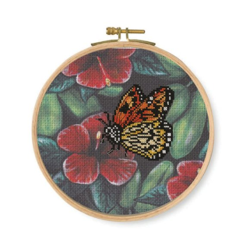 DMC Stamped Cross Stitch Kit Orange Butterfly
