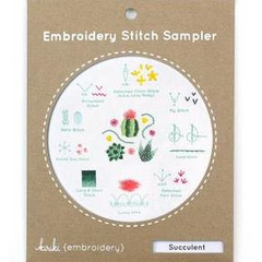 Succulent Embroidery Stitch Sampler by Kiriki Press