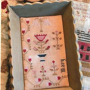 Snippets of Mary Barres Sampler Medium Sewing Tray & Needle Book by Stacy Nash Primitives