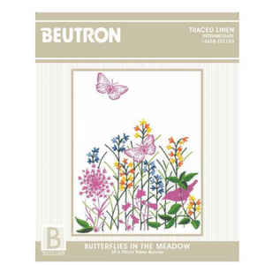 Butterflies in the Meadow Table Runner Kit by Beutron