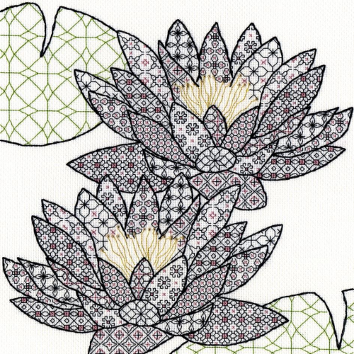 Blackwork Water Lily by Bothy Threads