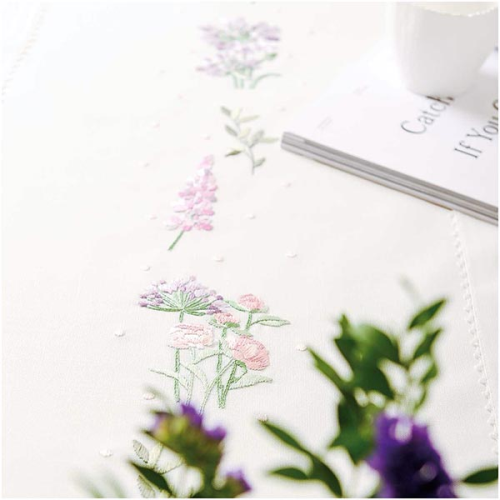 Floral Wreath Table Runner by Rico Designs