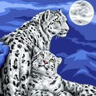 Snow Leopards Tapestry 10.502 by Grafitec