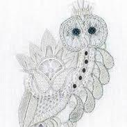 Snowy Owl Whitework Kit by Nicola Jarvis