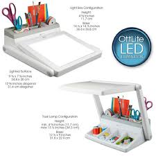 Ottlite LED Light Box with Task Lamp Station