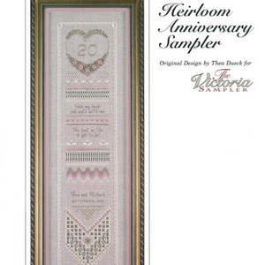 Heirloom Anniversary Sampler by The Victoria Sampler