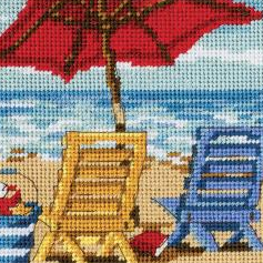 Beach Mini Needlepoint Kit by Dimensions