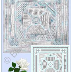 """Natalie"" A Pulled thread work and Blackwork Sampler from Blackwork Journey by Elizabeth Almond"