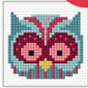 Cross Stitch Mini Owl Kit by Create Handmade