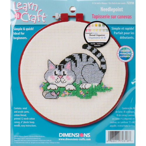 A Cat and A Mouse Needlepoint Kit by Dimensions