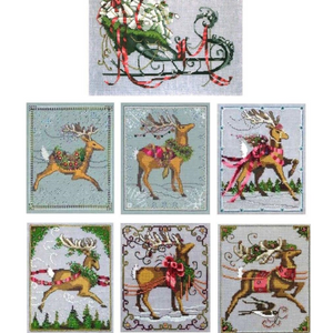 Christmas Couriers (Reindeer Series) by Nora Corbett - Chart and Embellishment Packs