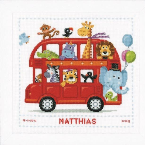 Vervaco Safari Bus Cross Stitch Kit 0147691