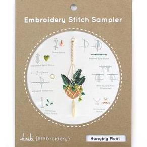 Hanging Plant Embroidery Stitch Sampler by Kiriki Press