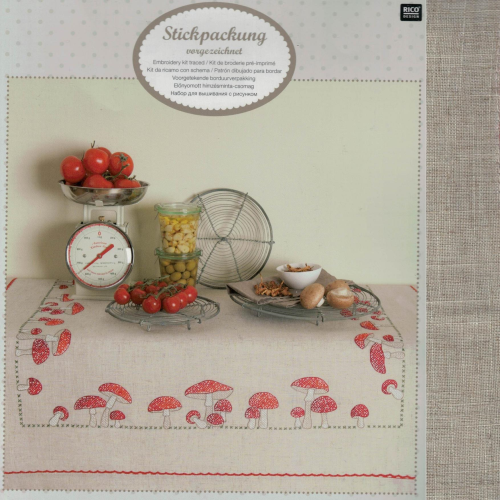 Rico 68286 Toadstool Cross Stitch Table Tabel Cloth Kit