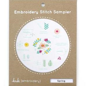 Spring Embroidery Stitch Sampler by Kiriki Press