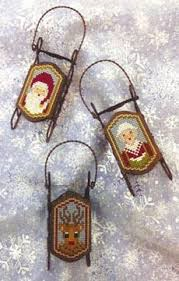 Sled Cross Stitch Designs by Foxwood Crossing