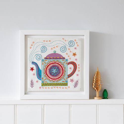 Teapot Embroidery Kit by Nancy Nicholson