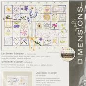 Le Jardin Sampler Stamped Cross Stitch by Dimensions
