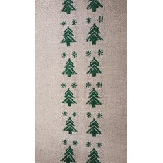 Linen Band 28CT With Christmas Trees 20cmwide
