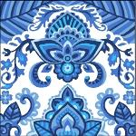 China Blue Tapestry by Grafitec