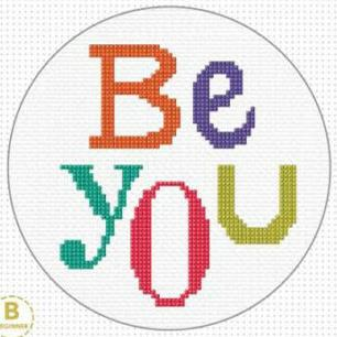 Be You Cross Stitch Kit by Create Handmade