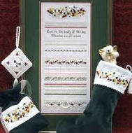 Christmas Roses Sampler and Accessory Pack by The Victoria Sampler