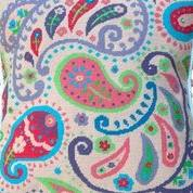 Pink Paisley Needlepoint Kit from The Stitchsmith