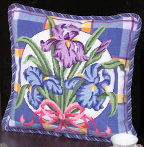 Iris On Plaid by Alice Peterson Company