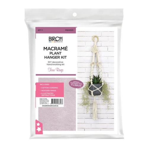 Macrame Plant Hanger Kit - Four Rings by Birch Creative