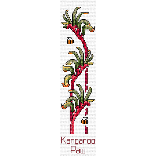 Kangaroo Paw Cross Stitch Bookmark by Country Threads