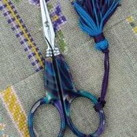 Blue Onyx Style Embroidery Scissors from Sajou
