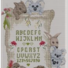 Bush Babies Alphabet Chart by Carrol Nielsen