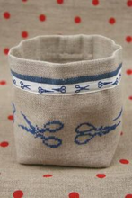 Blue Scissors Sajou Cross Stitch Pots