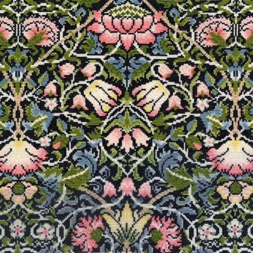 William Morris Bell Flower Tapestry Cushion by Bothy Threads