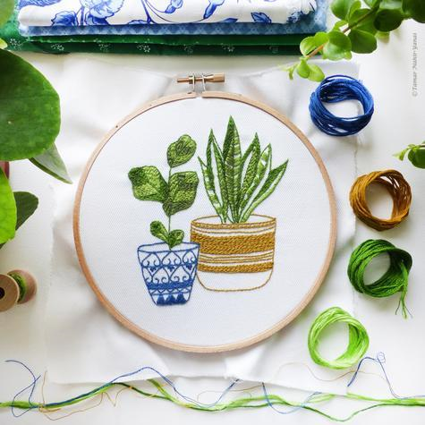 Blue & Green Houseplants by Tamar Nahir-Yanai