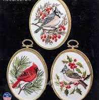 Winter Birds Embroidery by Janlynn