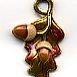 Susan Clarke Charm 1364 Acorn On Leaf