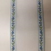 6cm Decorative Aida Band Per Metre Blue Floral Edge