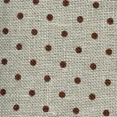 32CT Belfast Linen Brown/Natural Spots Zwiegart Per Metre