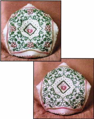 Spring Blossom Biscornu Pincushion Kit By The Sweetheart Tree