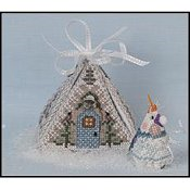 Frosty Winter Mouse in a House by Just Nan