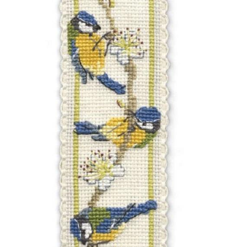Blue Tits Bookmark Kit by Heritage Textiles