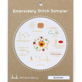 Summer Embroidery Stitch Sampler by Kiriki Press