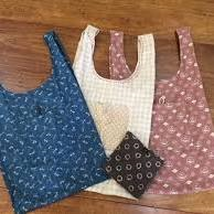 Eco Shopping Bag Pattern by Bebe Bold