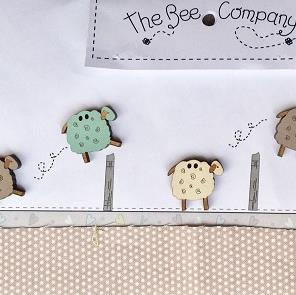 Sheep Buttons by The Bee Company