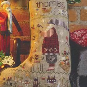 Thomas' Stocking By Shepherd's Bush - Chart and Charm Pack