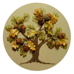 Oak Tree Stumpwork Kit By Windflower Embroidery