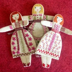 Three Little Folk Dolls by Nancy Nicholson